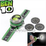 Проекционные часы Бен 10 Тен - 30 героев Ben10 Omnitrix Projector Новая версия Bandai