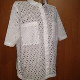 Хлопковая рубашка хлопок Пог 58 см