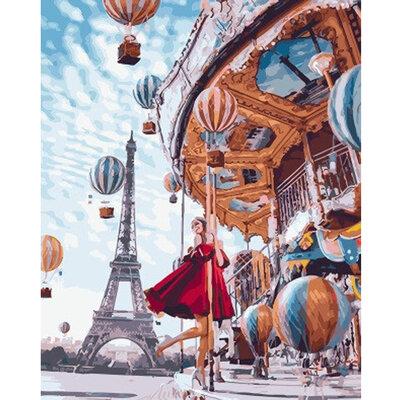 Картина По Номерам. BRUSHME Воздушные Шары Парижа GX22860
