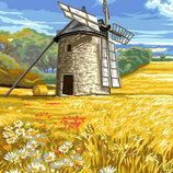 Картина По Номерам. BRUSHME Мельница На Пшеничном Поле GX6698