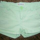 Короткие джинсовые шорты фирмы Fox 7-9 лет девочке фирменные шортики