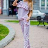 Женский повседневный летний спортивный костюм ткань трикотаж люрекс скл.1 арт.54564