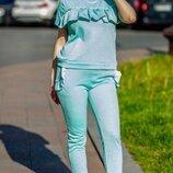 Женский летний спортивный костюм батал с люрексом скл.1 арт.54566