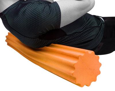 Ролик для йоги і пілатес PowerPlay 4020, 60х15 см Оранжевий