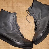 41р- 27 см кожа на меху ботинки Heuy Beyreliu на широкую внутри натуральная шерсть, вся стелька 27