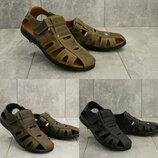 Мужские сандалии Clarks, натуральная кожа, код gavk-158S-M1