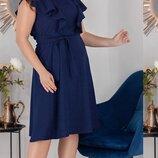 Платье XL нарядное летнее лёгкий креп фактурный бежевый красный синий мята