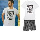 Мужской летний костюм или домашний, пижама Livergy Германия, футболка шорты