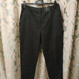 Шикарные фактурные брюки SLIM зауженные к низу с карманами жаккард F&F Англия