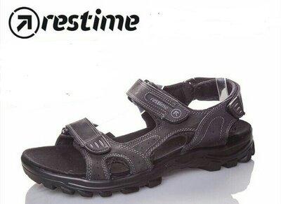 Босоножки мужские чёрные Restime 066