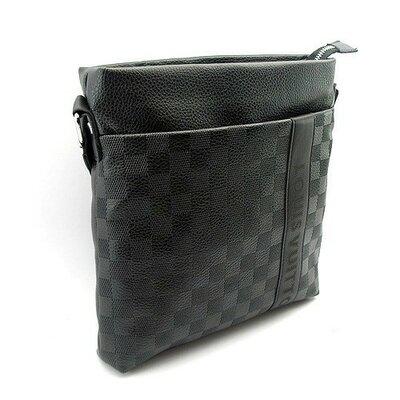 Сумка средняя кожа PU мужская черная Louis Vuitton 715