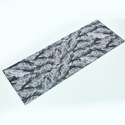 Коврик для фитнеса и йоги двухслойный Feather 0181-1 толщина 4мм, размер 1,73х0,61м