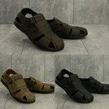 Мужские сандалии Clarks, натуральная кожа, код gavk-155