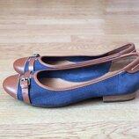 Кожаные туфли Clarks Англия 42 размера в состоянии новых