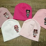 Одинарні шапочки Лол для дівчаток. 48-50 р.