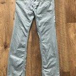Мужские брюки чиносы голубого цвета хлопок