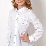 Блуза с длинным рукавом на девочку MEVIS 2750 размеры 122- 146