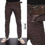 штаны хлопок с ремнем