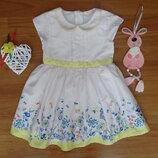 Нежнейшее Платье с Цветочками и Бабочками M&S