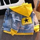 Модная курточка джинс р. 120-130