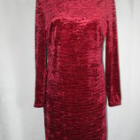 Новое велюровое платье с блеском New Look 16p