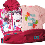 Распродажа спортивный утепленный костюм тройка для девочки венгрия р. 98-110