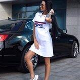 Спортивное платье поло Фенди