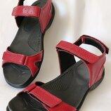 Mante Xbiom Кожаные красные женские летние сандалии босоножки без каблука, смотрятся стильно