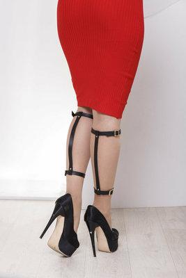 Портупея на ноги, портупея на голени, гартеры на ноги, портупея гартеры, женская портупея на ноги
