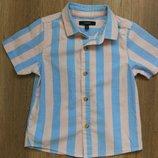 Новая стильная рубашка короткий рукав Marks&Spencer на 2-3 года
