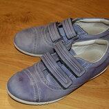 Кожаные кроссовки кеды мокасины Ecco, 18 см стелька
