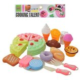 Продукты 6605E сладости, разрезные, на липучке, посуда