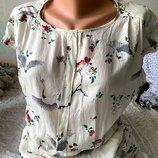Симпатичное легкое платьице из вискозы с красивой спинкой Zara S