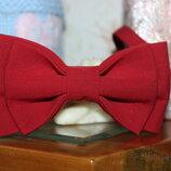 Галстук-Бабочка красно-бордового цвета, детская
