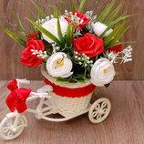 Декоративный велосипед с цветами - подарок на день рождения, 8 Марта