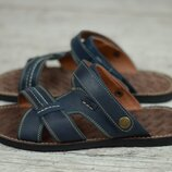 Мужские кожаные сандалии, босоножки Bonis 25 син