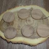 Заготовки деревянные круглые 4 см Руны Дуб