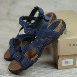 Мужские кожаные сандалии, босоножки StepWey 1072 син/кор