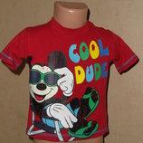 футболка с Микки от Disney на 12-18 мес в состоянии идеальном
