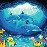 Картина По Номерам. BRUSHME Океанарий GX6347. Дельфины.