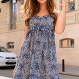 Женский легкий летний сарафан платье с принтом Турция скл.1 арт.54687