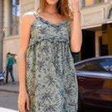 Женский легкий летний сарафан платье с принтом Турция скл.1 арт.54686