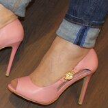 Шикарные летние открытые туфли босоножки на каблуке розовые пудровые, серые, красные, голубые, бирюз