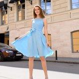 Женское летнее турецкое платье с гипюром ткань софт Турция скл.1 арт.54685