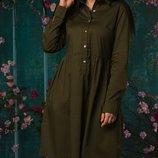 Женское летнее коттоновое платье свободного фасона размеры батал микс цветов скл.1 арт.54680