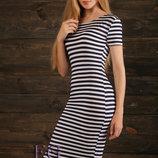 Женское длинное платье в полоску Регина ткань мягкая вискоза скл.10 арт.946