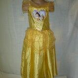 платье Белль на 7-8 лет с обручем