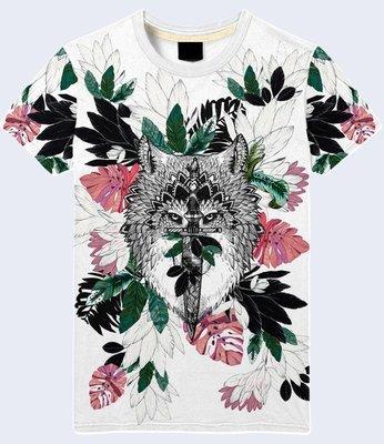 Мужская футболка 3D Wolf and dagger Большой выбор