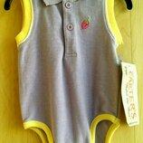 Бодик сиреневый, боди майка для девочки 3-6 месяцев рост 62-68см бренд Carters Картерс Сша