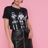 Женская летняя мяйкая футболка Chanel Космонавты Boy-2 ткань вискоза скл.2